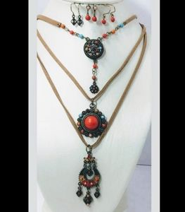 Ladies Fashion Boho Necklace and Earring set